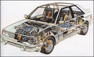 Escort RS1700T cutaway