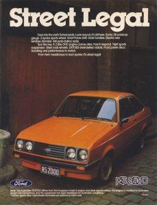 Escort RS2000 Mk2 Australia magazine ad