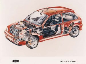 Fiesta RS Turbo Cutaway